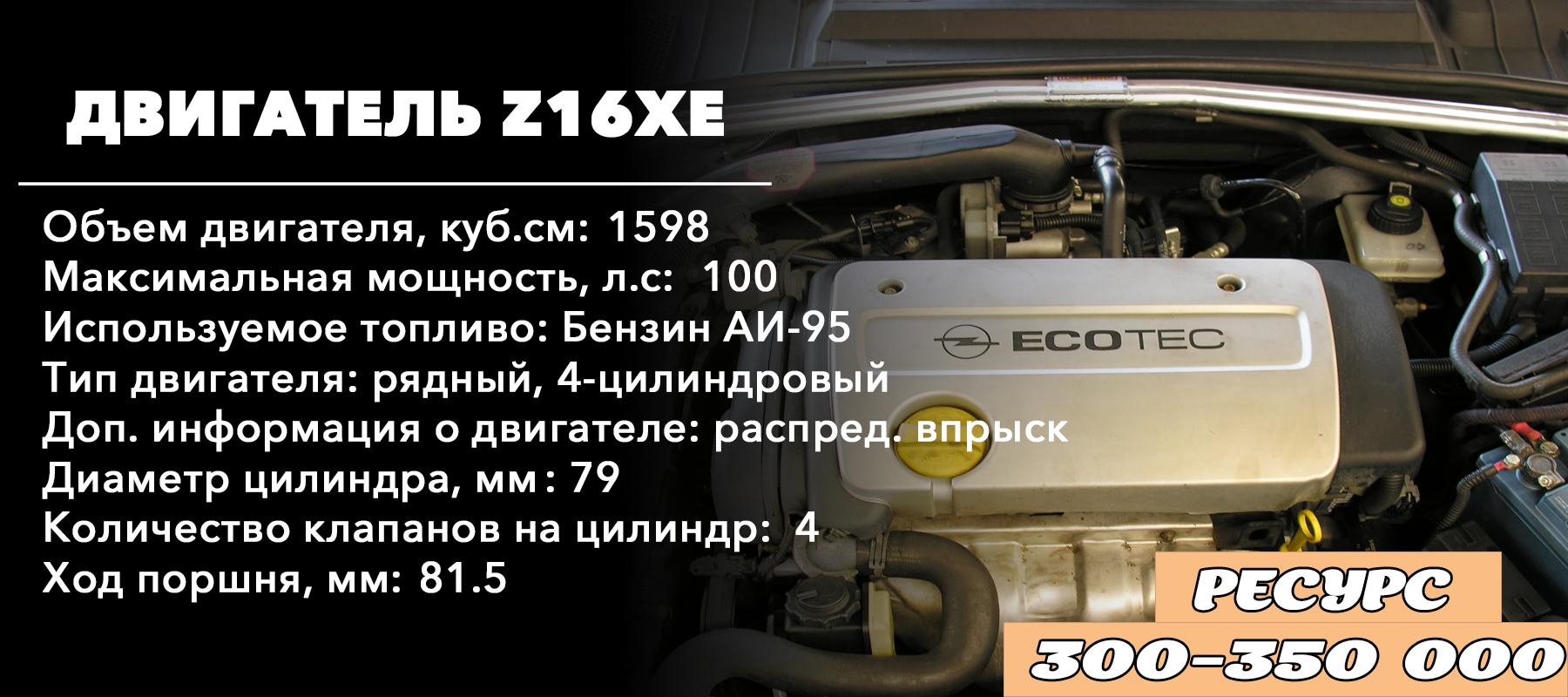 Ресурс двигателя 1.6 - Z16XE