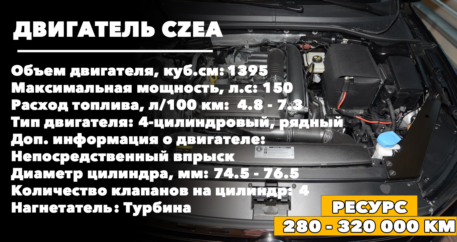 Ресурс двигателя CZEA