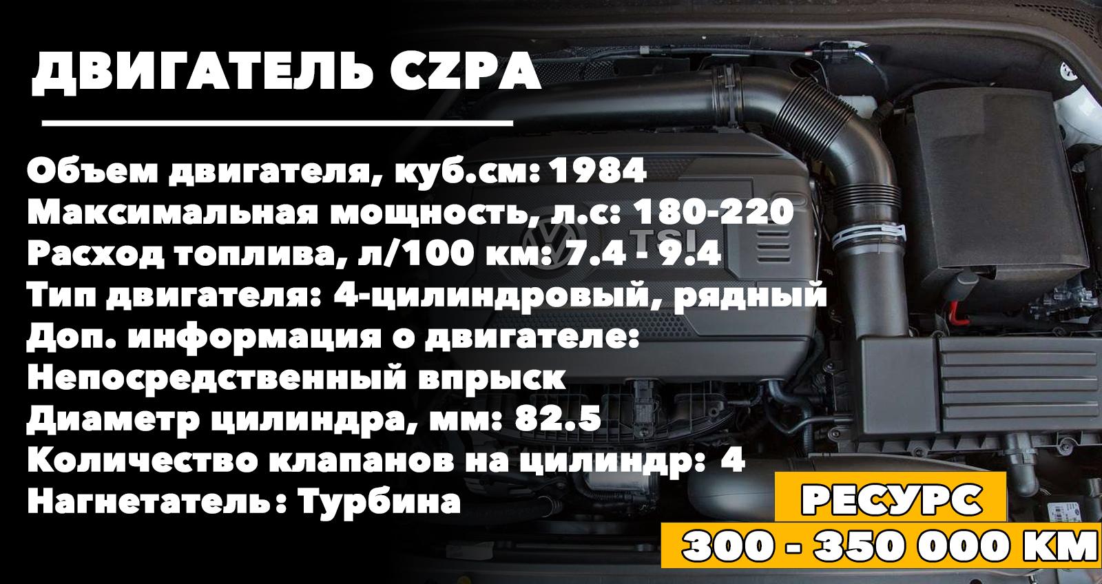Ресурс двигателя CZPA