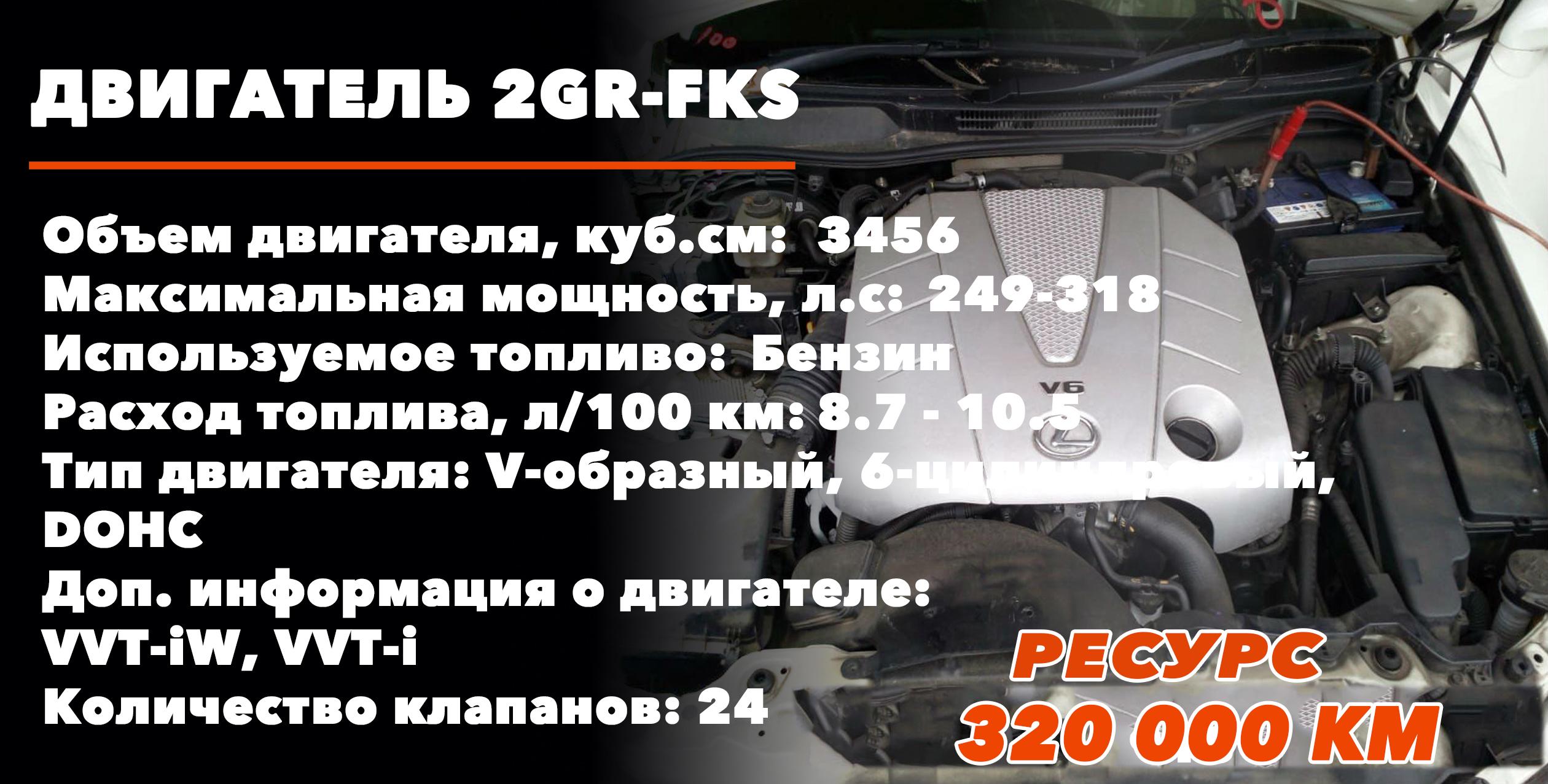 Ресурс мотора 2GR-FKS 3.5