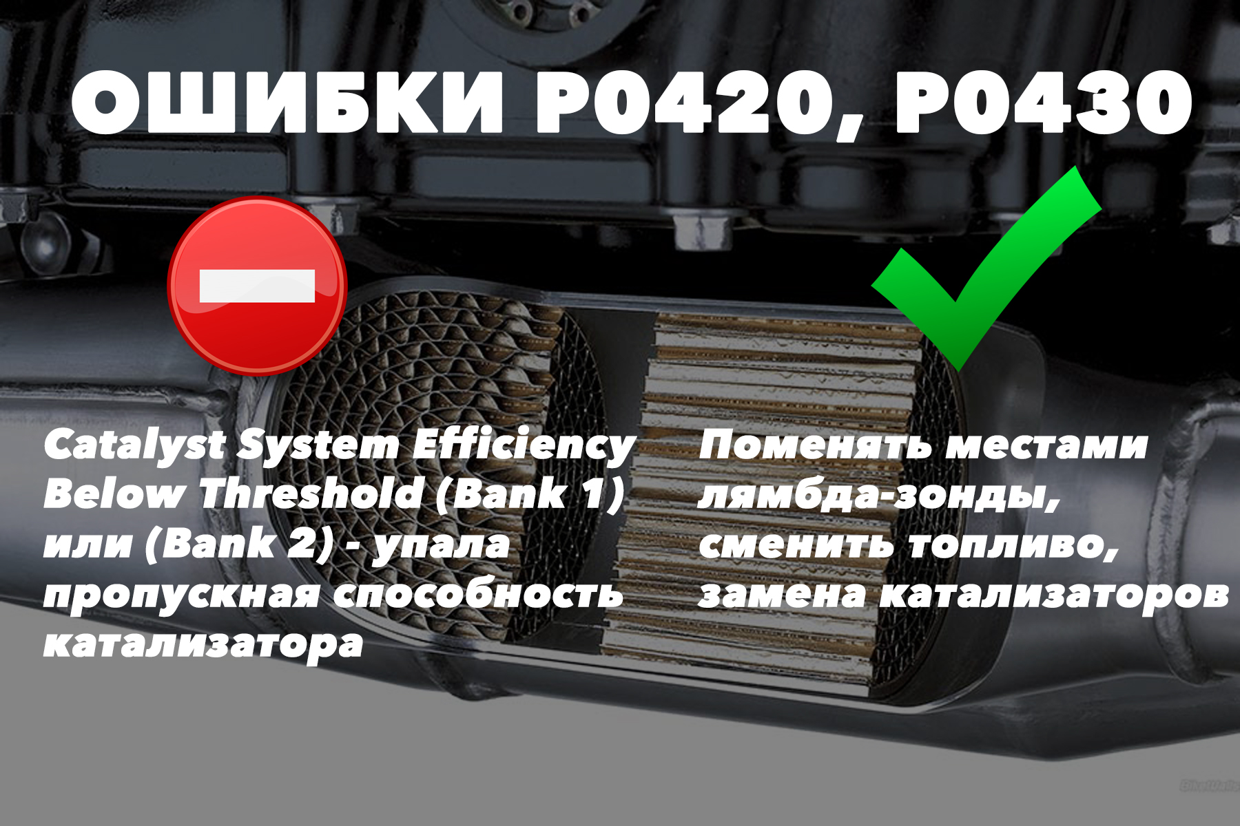 Форд Фокус 3 код ошибки P0420 и P0430 – упала пропускная способность катализатора