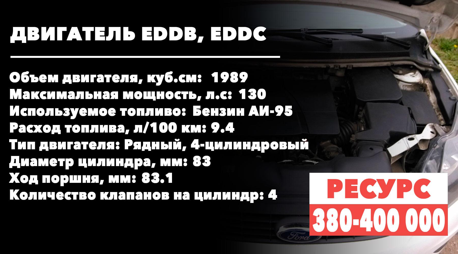 Сколько ходят двухлитровые моторы Ford-Focus (EDDB, EDDC)