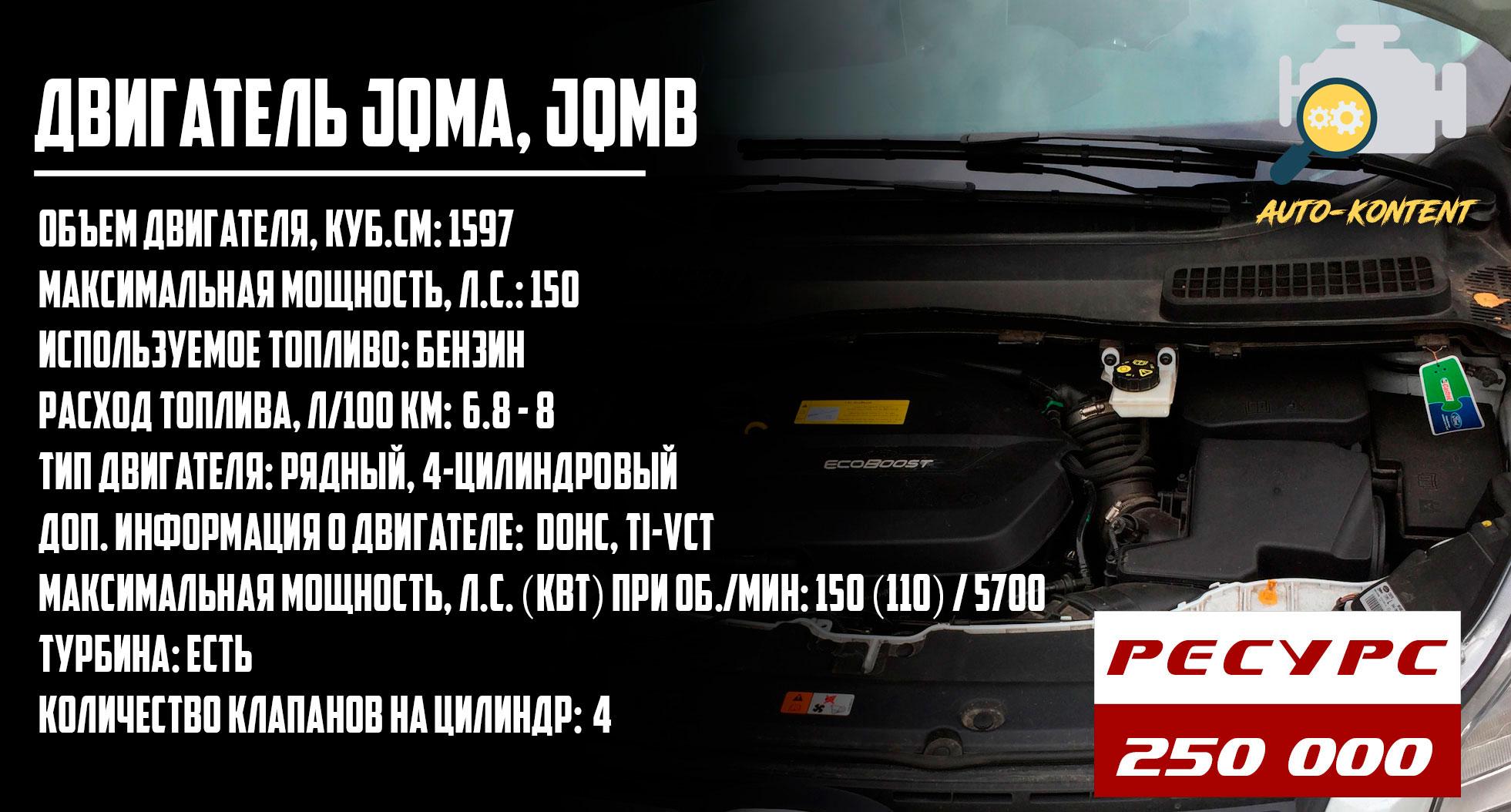 двигатель JQMA, JQMB