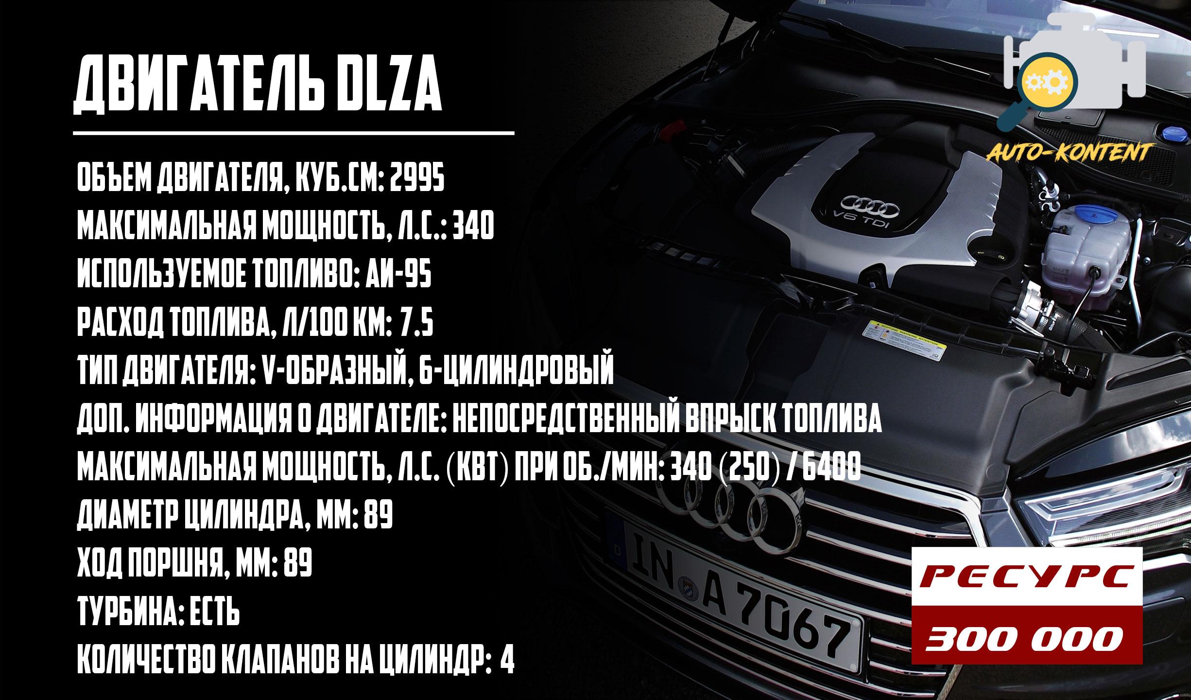 ресурс двигателя DLZA
