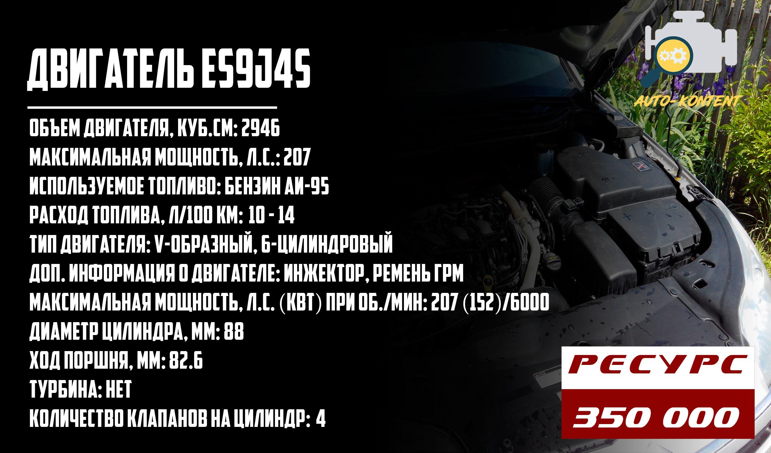 ресурс двигателя ES9J4S