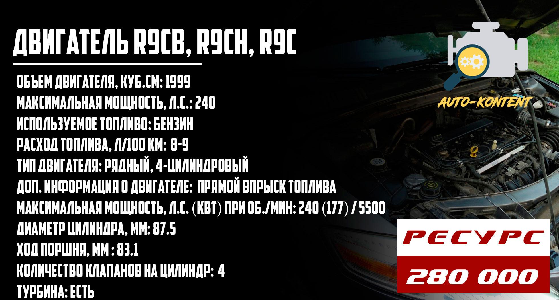 ресурс двигателя R9CB, R9CH, R9C